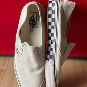 Men's VANS Off White with Checkered Soles